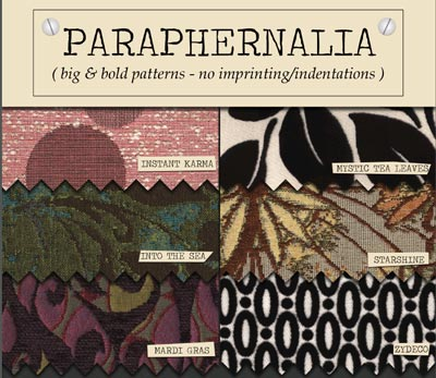 Patterened Upholstery fabrics