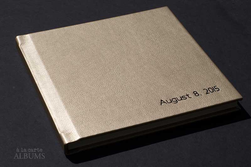 10x10 flush album metallic gold golddigger coronation black imprinting
